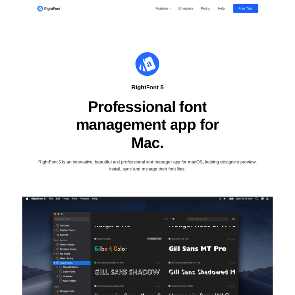 RightFont - Professional Font Manager for macOS