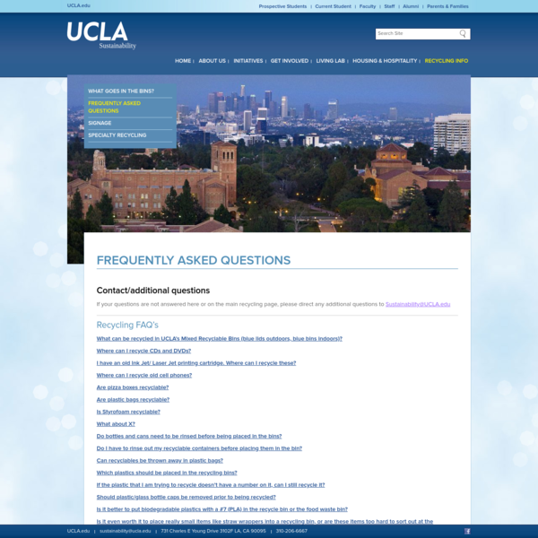 Frequently Asked Questions | UCLA Sustainability