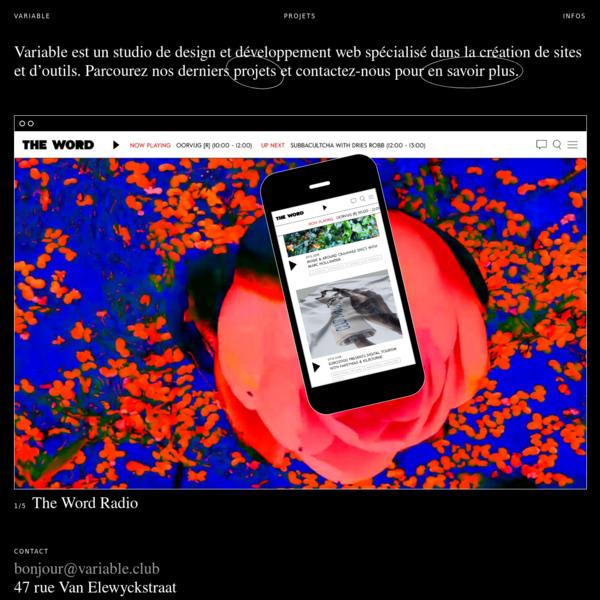 Variable / Agence web à Bruxelles