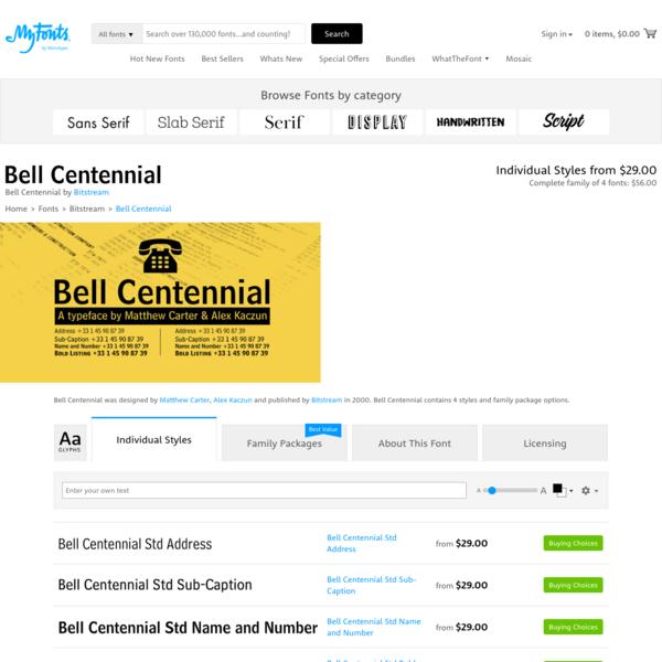 """Bell Centennial - Webfont & Desktop font """" MyFonts"""