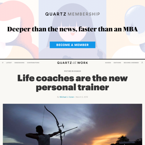 Life coaches are the new personal trainer