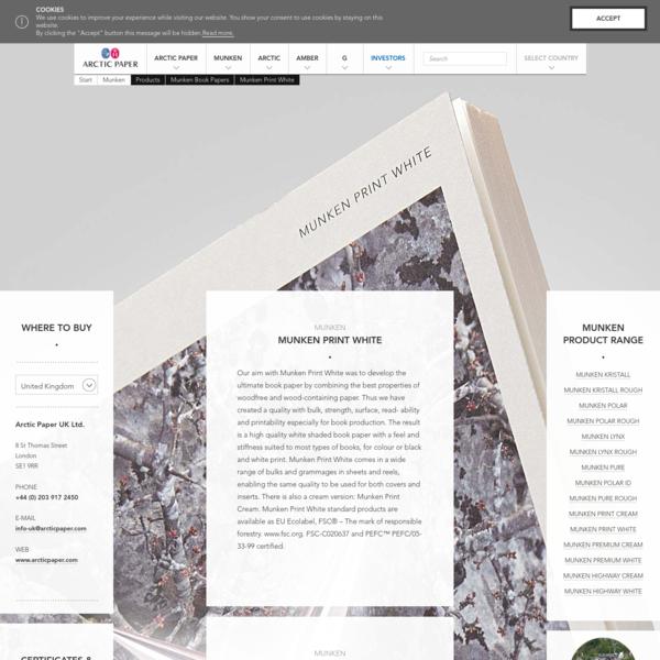 Munken Print White - Arctic Paper
