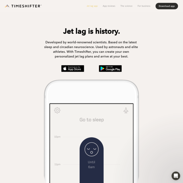 Timeshifter® - The Jet Lag App®