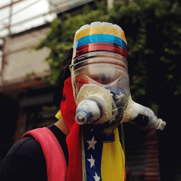 Improvised and homemade gas masks from protests around the world (Venezuela, Gaza, Hong Kong, etc.)