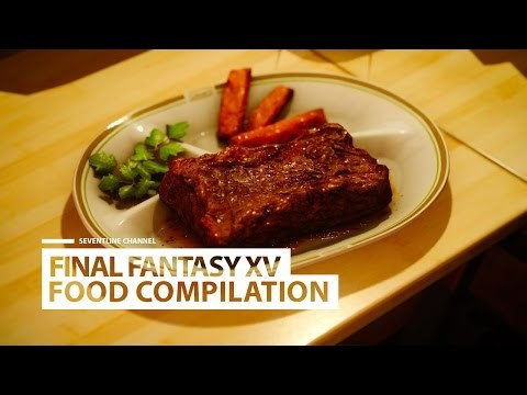 FINAL FANTASY XV - All Ignis Food Compilation.