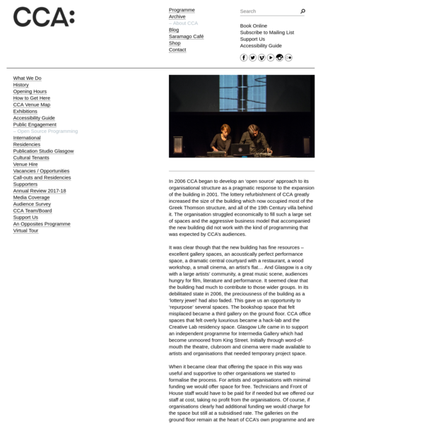 Open Source Programming | About CCA | CCA