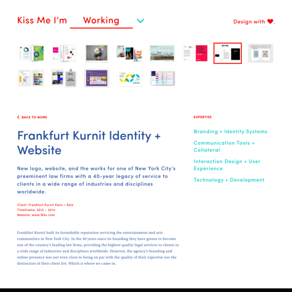 Frankfurt Kurnit Identity + Website |