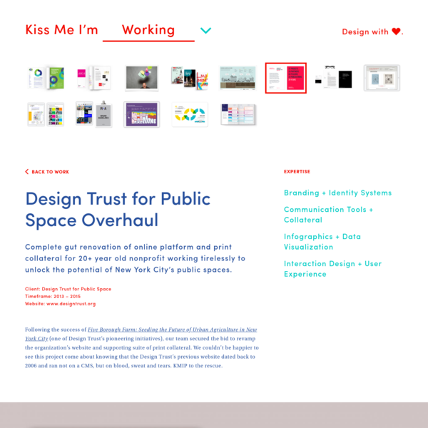 Design Trust for Public Space Overhaul |