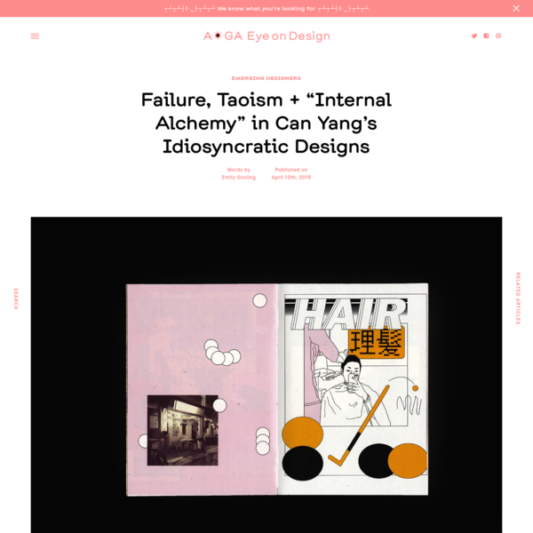"""Failure, Taoism + """"Internal Alchemy"""" in Can Yang's Idiosyncratic Designs"""