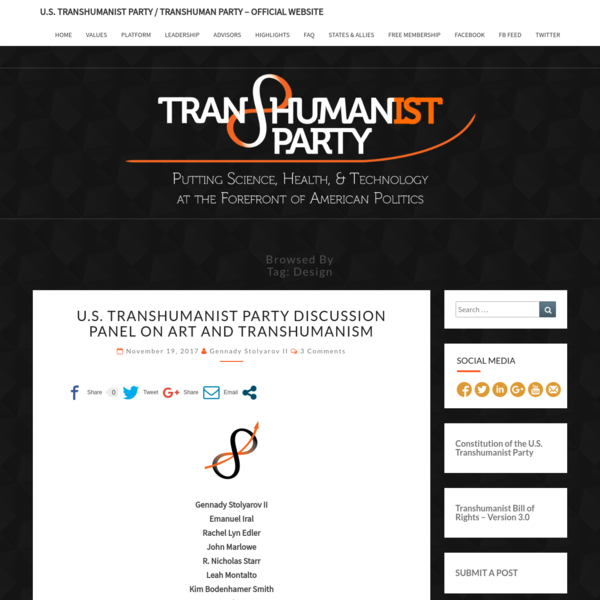 U.S. Transhumanist Party / Transhuman Party - Official Website