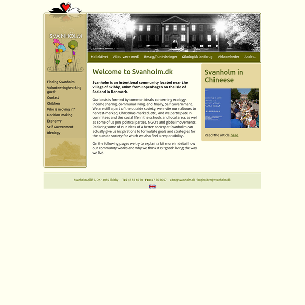 Svanholm: English