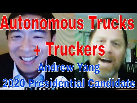 Autonomous Trucks vs Truckers | 2020 Presidential Candidate Andrew Yang | Red Viking Trucker