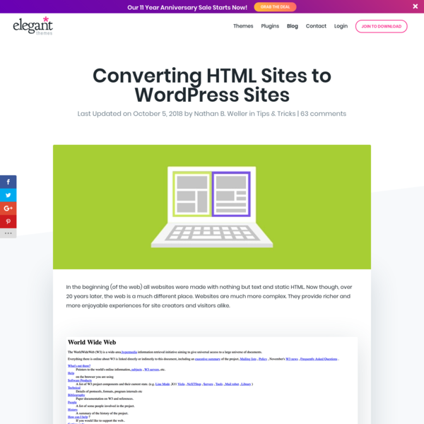 Converting HTML Sites to WordPress Sites