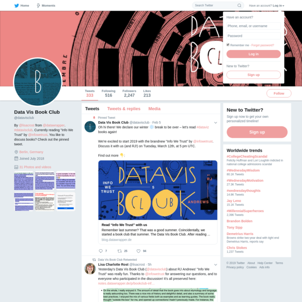 Data Vis Book Club (@datavisclub) | Twitter