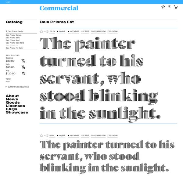 "Commercial Type "" Catalog "" Dala Prisma Fat"