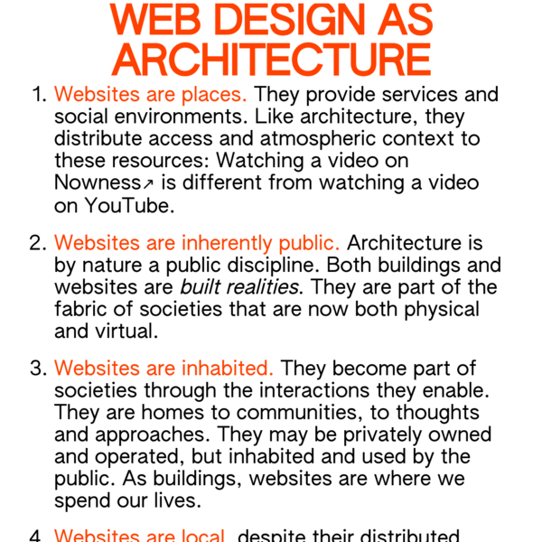 Webdesign as architecture