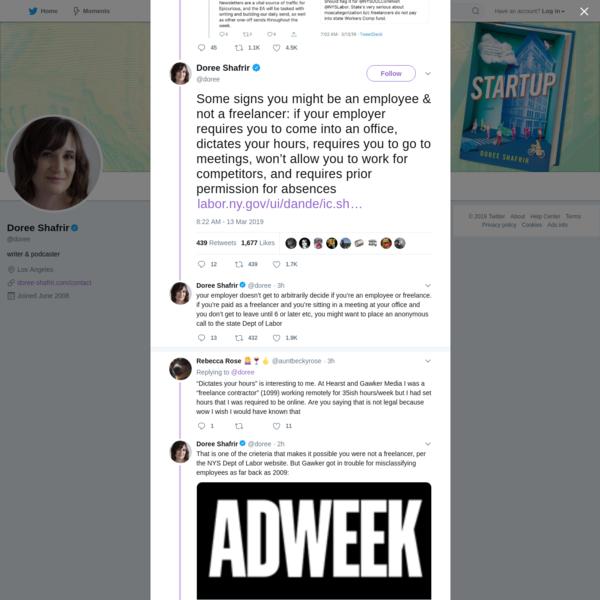 Doree Shafrir on Twitter