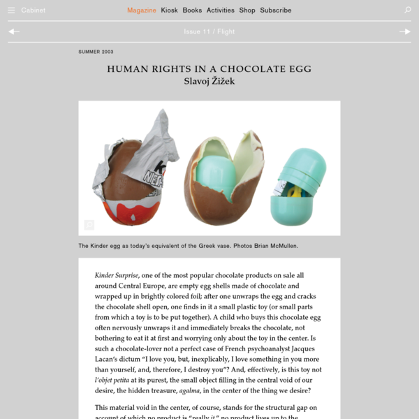 CABINET / Human Rights in a Chocolate Egg