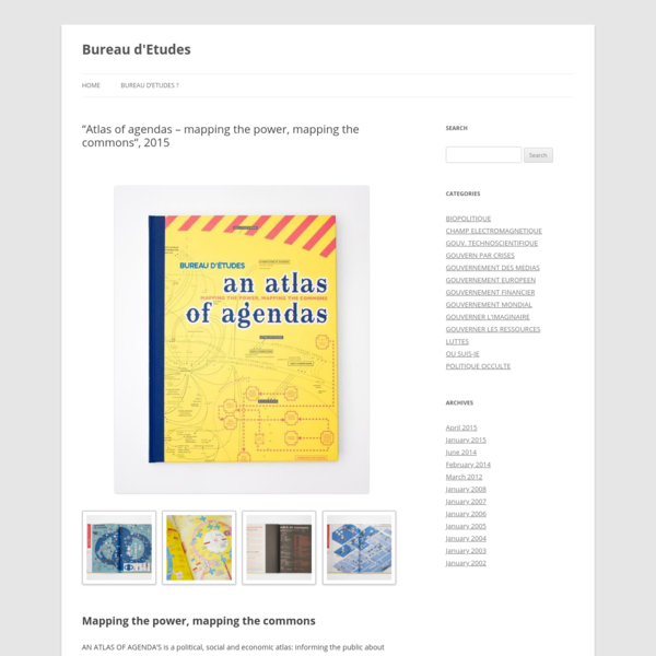 """""""Atlas of agendas - mapping the power, mapping the commons"""", 2015 - Bureau d'Etudes"""