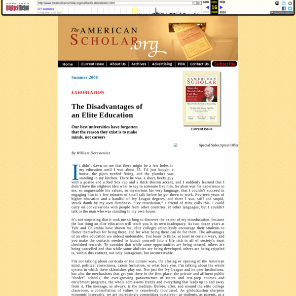 The American Scholar Magazine. The official website of Phi Beta Kappa's quarterly publication, featuring full articles and other Scholar information.