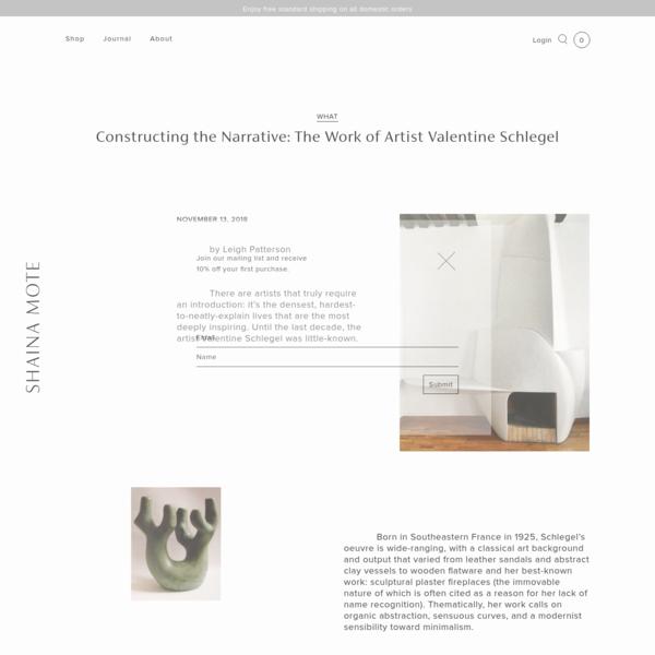 Constructing the Narrative: The Work of Artist Valentine Schlegel