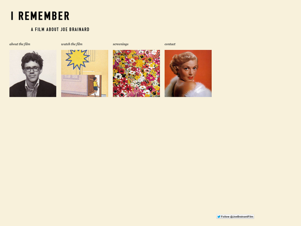 I Remember | A Film About Joe Brainard