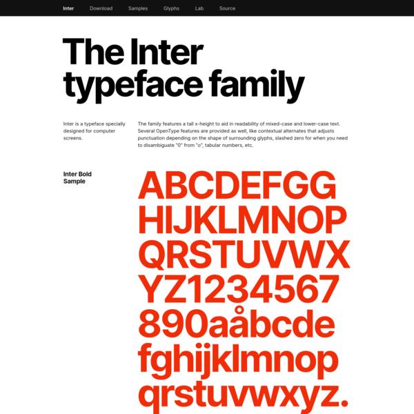 Inter font family