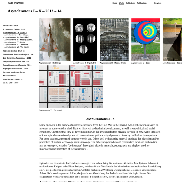 "Asynchronous I - X - 2013 - 14 "" JULES SPINATSCH"