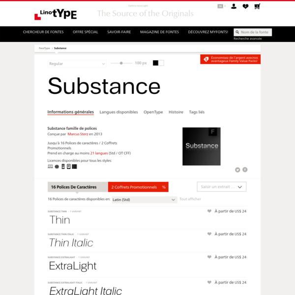 Substance famille de polices | Linotype.com