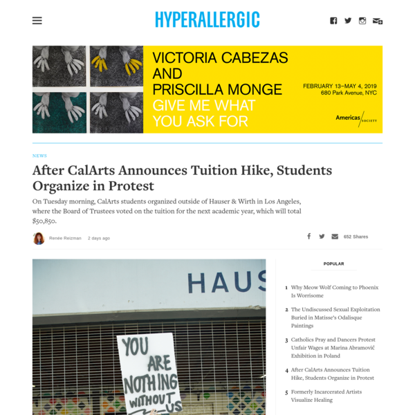 After CalArts Announces Tuition Hike, Students Organize in Protest