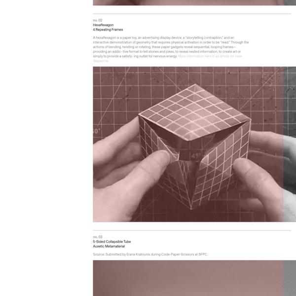 Cut / Fold Templates for paper mechanisms