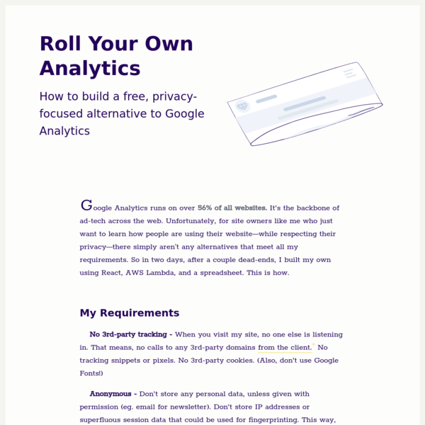 Roll Your Own Analytics - PC Maffey