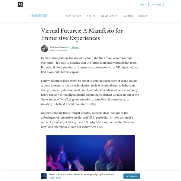 Virtual Futures: A Manifesto