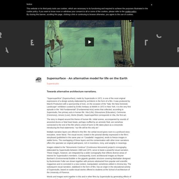 Towards alternative architecture narrations.