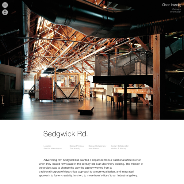 Advertising firm Sedgwick Rd. wanted a departure from a traditional office interior when they leased new space in the century-old Star Machinery building. The mission of the project was to change the way the agency worked from a traditional/corporate/hierarchical approach to a more egalitarian, and integrated approach to foster creativity.