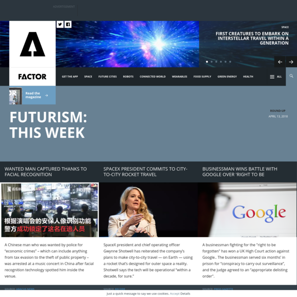 This week: Facial recognition used to capture fugitive, SpaceX commits to city-to-city rocket travel and UK reveals it launc...