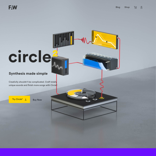 Circle² by Future Audio Workshop | synthesis made simple.
