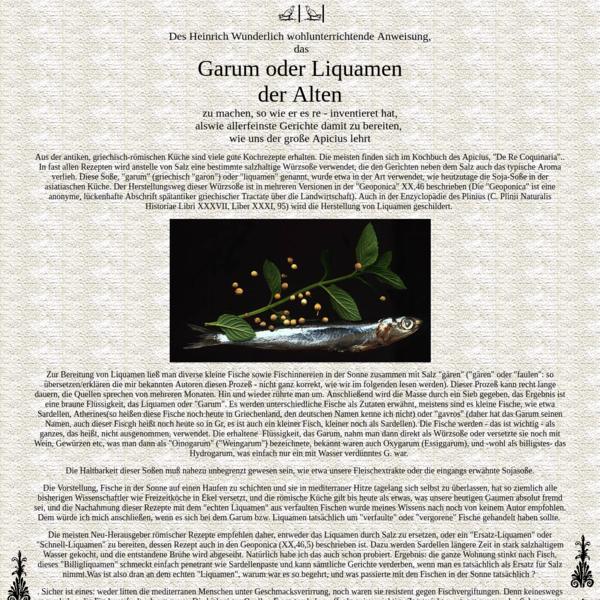 garum ( liquamen )