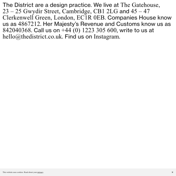 The District are a design practice