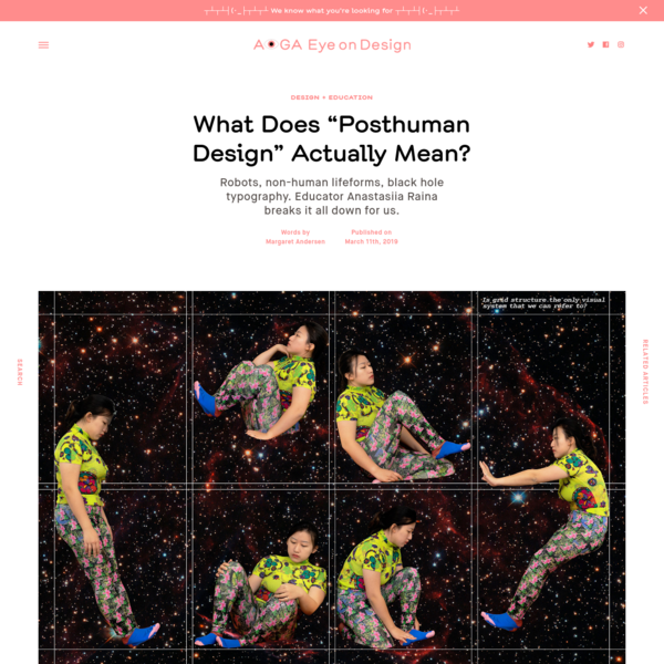 """What Does """"Posthuman Design"""" Actually Mean?"""