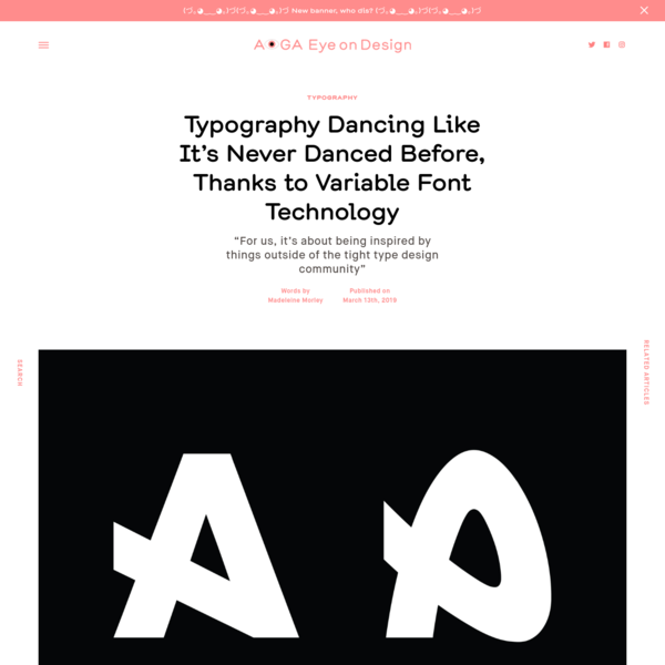 Typography Dancing Like It's Never Danced Before, Thanks to Variable Font Technology
