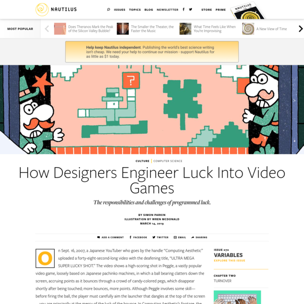 How Designers Engineer Luck Into Video Games - Issue 70: Variables - Nautilus
