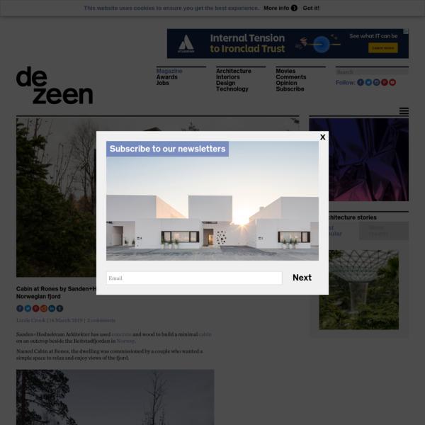Cabin at Rones by Sanden+Hodnekvam Arkitekter overlooks Norwegian fjord