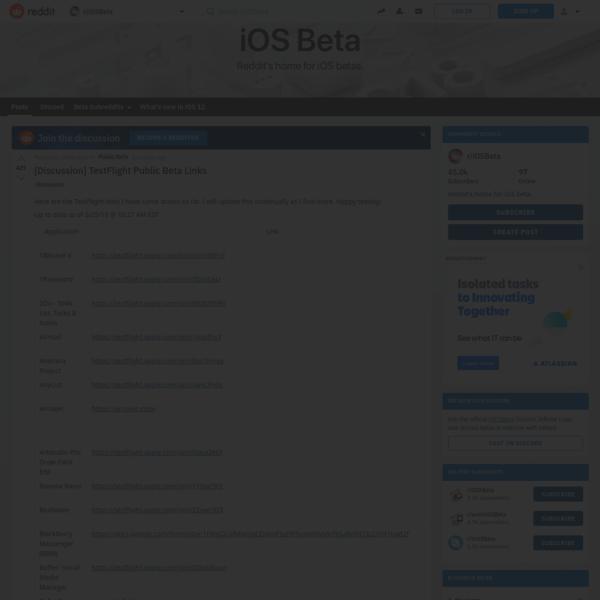 r/iOSBeta - [Discussion] TestFlight Public Beta Links