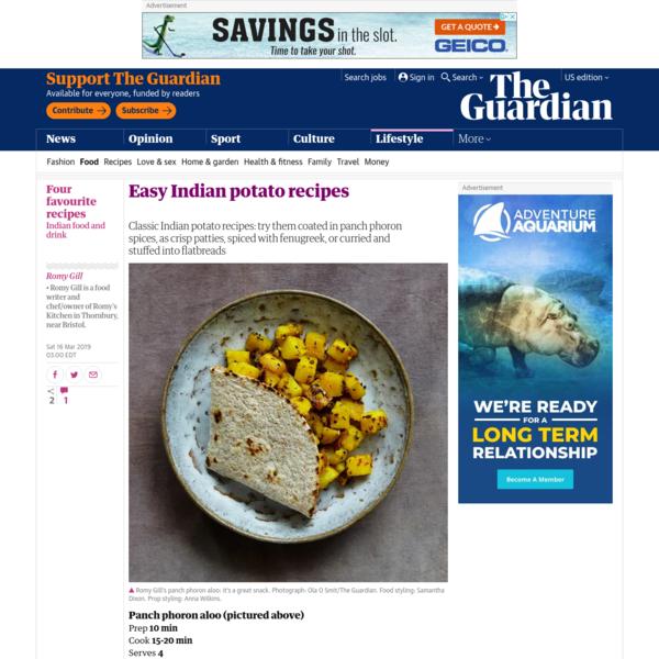 Easy Indian potato recipes