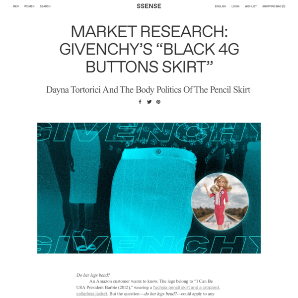 """Market Research: Givenchy's """"Black 4G Buttons Skirt"""""""
