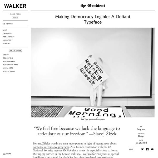 Making Democracy Legible: A Defiant Typeface