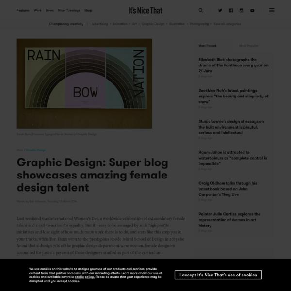 Graphic Design: Super blog showcases amazing female design talent