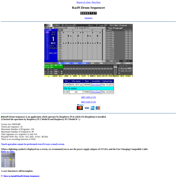 RasPi Drum Sequencer