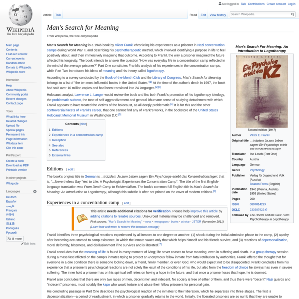 Man's Search for Meaning - Wikipedia